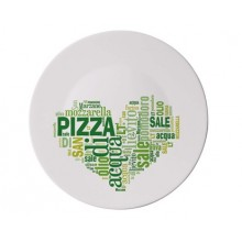 BORMIOLI Talerz do pizzy PIZZA 33 cm I LOVE PIZZA GREEN 05419320F