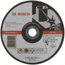 Bosch Tarcza tnąca prosta Expert for Inox AS 46 T INOX BF, 180 mm, 2,0 mm 2608600095