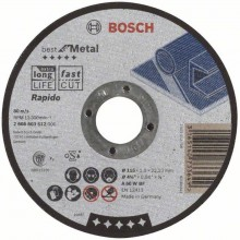 Bosch Tarcza tnąca prosta Best for Metal – Rapido A 60 W BF, 115 mm, 1,0 mm, 2608603512