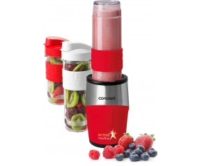 CONCEPT SM3386 SMOOTHIE MAKER Active 500W, 2 x 570ml + 400ml, czerwony sm3386