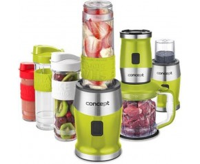 CONCEPT SMOOTHIE MAKER + CHOPPER + MŁYNEK 700 W ZIEL. 2 X 570 ML + 400 ML sm3393