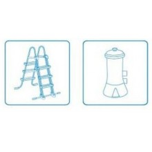 INTEX EASY SET POOL 4,57 x 1,07 m (12 V) Filtr kasetowy (26 V) 26166GN