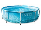 INTEX Basen Beachside Metal Frame Pool Set 3,05m x 0,76m 28208NP