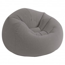 INTEX BEANLESS BAG CHAIR Dmuchany fotel 107 x 104 x 69 cm, szary 68579
