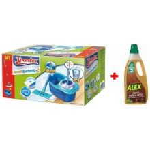 Spontex Express System Plus Mop rotacyjny płaski + Alex Cleaner Extra Care 97050360