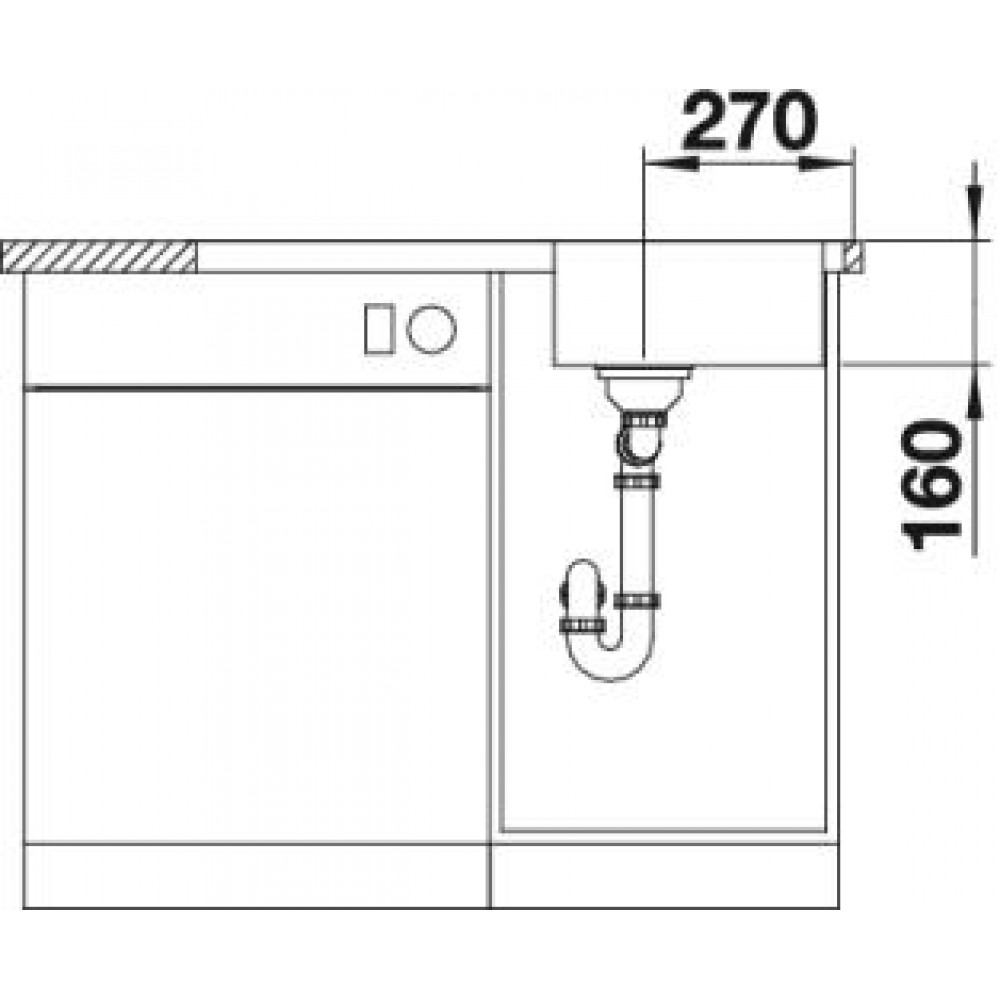 blanco lantos 45 s if salto zlewozmywak ze stali szcotkowanej z korkiem aut 519707. Black Bedroom Furniture Sets. Home Design Ideas