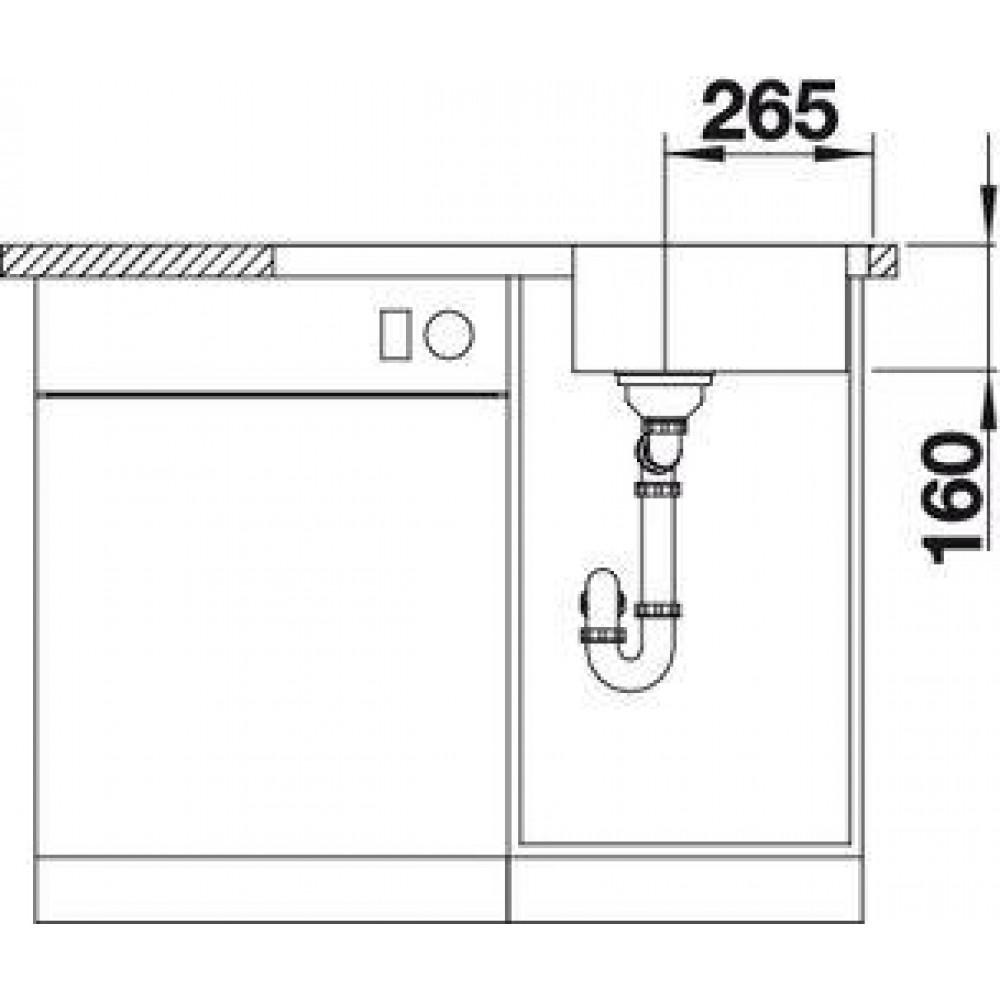 blanco zlewozmywak lantos 45 s if compact 519059. Black Bedroom Furniture Sets. Home Design Ideas