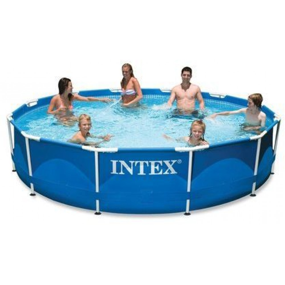 intex basen stela owy metal frame pool 366 x 76 cm z pomp kartuszow 28212np. Black Bedroom Furniture Sets. Home Design Ideas