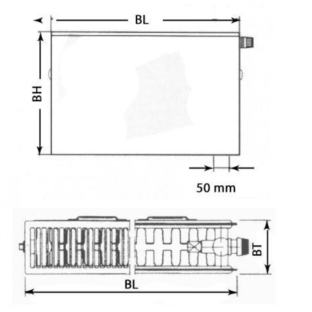 kermi therm x2 plan v grzejnik p ytowy zaworowy typ 22. Black Bedroom Furniture Sets. Home Design Ideas