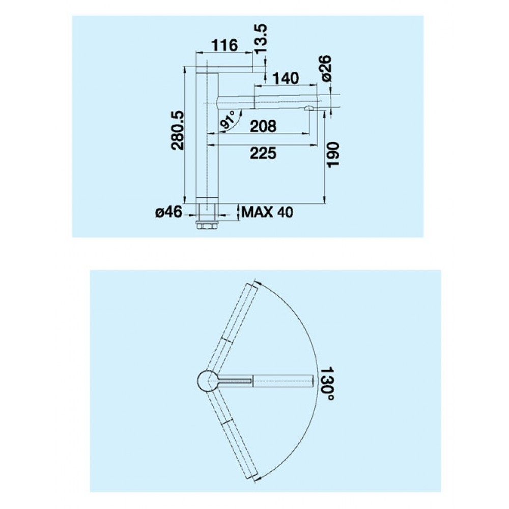blanco linee s bateria kuchenna chrom 517591. Black Bedroom Furniture Sets. Home Design Ideas
