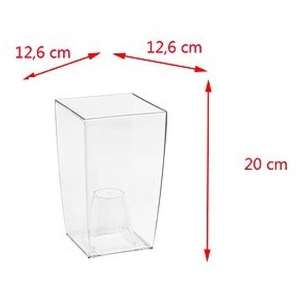 prosperplast urbi square p doniczka storczykowa 2l   u017c u00f3 u0142ta